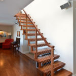 custom wood stair railing for home