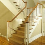 modern wood staircase