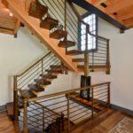 curved wood railing