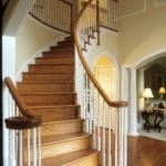 indoor wood stair railings