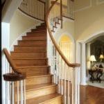 indoor wood stair railings